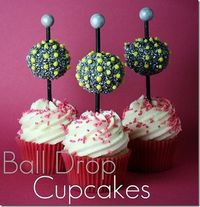 Sand and Sisal: New Years Eve Ball Drop Cupcakes