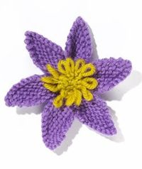 Knit Flower: Clematis pattern