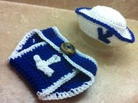 Navy Newborn Outfit by kalijames13 on Etsy, $25.00