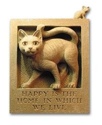 Cat and mouse wall plaque.