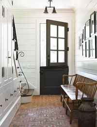 Dutch door, brick floor, a nice welcome ~ Amy Morris