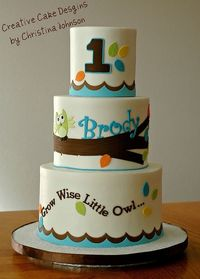 Owl 1st Birthday Cake by Creative Cake Designs (Christina), via Flickr