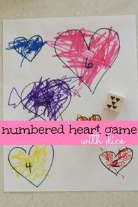 Numbered Heart Game with Dice