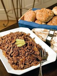 Shredded BBQ Beef Sandwiches