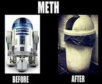 Before/after | Star Wars | r2d2 | meth