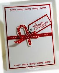 Stampin' Up! Christmas by Chat Wszelaki at Me, My Stamps and I: Candy Cane