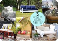 15 awesome DIY outdoor furniture ideas.