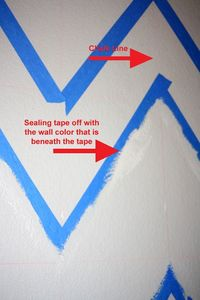 painting chevron walls