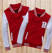 Red White Letter R Lovers Varsity Jackets