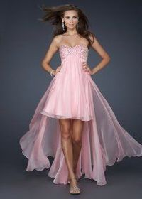 2013 Pink Sequin Top Strapless High Low Homecoming Dress On Sale