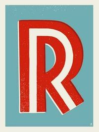 LETTER R SCREEN PRINT « Limited Edition Art Posters « Methane Studios