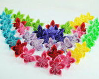Paper Flowers Origami Flowers,Set of 40pcs - mixed colors bouquet decoration for wedding,Home Decoration,Best Gift fo