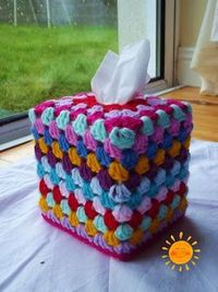 Granny Tissue Box Cover tutorial by Soleil. thanks so for sharing xox