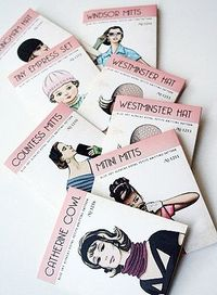 Fabulous, vintagey knitting patterns - so cool. About 2 x 2 inches