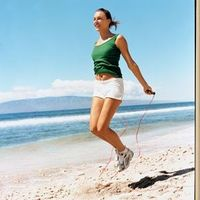 Did you know that 10 minutes of jumping equals a 30-minute run? The 3-Minute Jump Rope Workout...I need a jump ROPE!