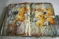 Love this page. I have some of that wallpaper I bought at a thrift shop but still haven't tried it...I love the look. I have used joint tape in my journal and I absolutely love the way it turns out.
