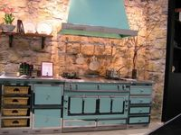 Freakin' awesome turquoise stove!