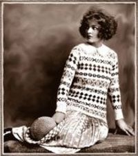 This sweater would today be denounced as �€œugly sweater�€. Yet everybody seems to want one. Fleisher's Knitting and Crocheting Manual 1922