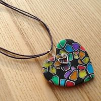 FIMO Polymer Clay Heart Pendant