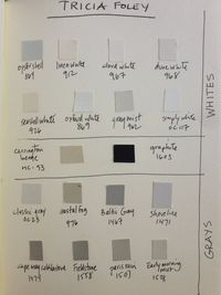 Benjamin Moore favorite paint colors