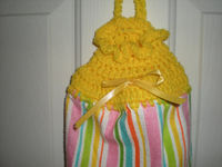 Plastic Bag Holder - Crochet - Yellow