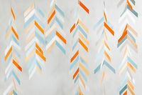 DIY herringbone backdrop