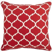 Cabana Geometric Pillow - Tomato $20.00