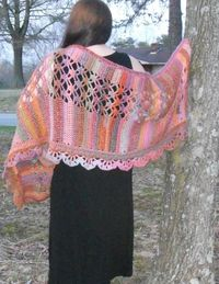#Crocheted Abstract Treasure Shawl pattern on Craftsy.com