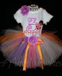 Dora the Explorer Inspired 3 Piece Glitter Tutu Outfit for Girls Birthday
