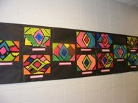 This Little Class of Mine: kindergarten: Navajo rug paintings
