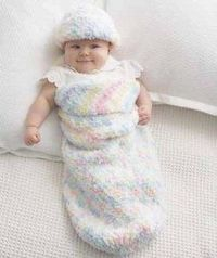 Pipsqueak Baby Cocoon and Hat - free crochet pattern