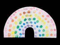 Fingerprint Rainbow Preschool Art Project