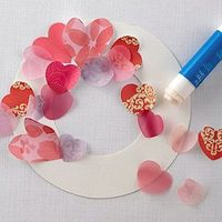 make a valentine wreath--cut hearts out of different paper in different sizes and have the kiddos glue them on! Use paper plate as wreath base