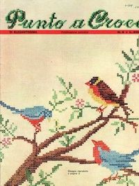 vintage cross stitch pattern - bird