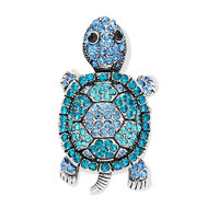This stretch animal ring features a cute sea turtle design paved with round rhinestones.Crafted in silver plated alloy,the Stretch Pave Rhinestone Cocktail Turtle Ring has a stretch band for comfortable wear.