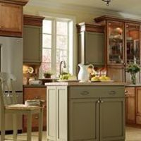 green accent cabinets