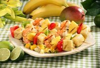 Island Kabobs with Tropical Fruit Salsa