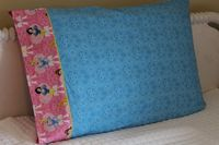 Darling pillowcase handmade from licensed Princess Disney fabric.