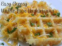 Easy Cheesy Waffle Iron Hashbrowns--yummy looking side!