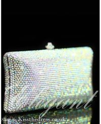 Exclusive Handmade Rhinestones Purse Clutch Evening Handbag b007