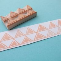 Triangles Border stamp