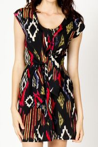 ikat front tie dress from a-thread